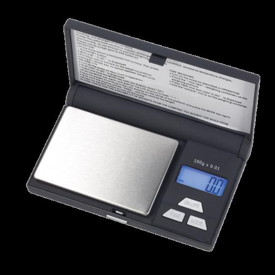 Balanza de bolsillo OHAUS para Joyería de 100 gramos. Funciona con pilas.
