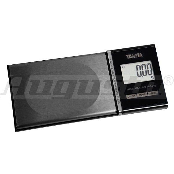 Báscula de bolsillo TANITA 1479J. Pesa hasta 200 gramos con precisión de 0.01gramos. Modelo 1479J