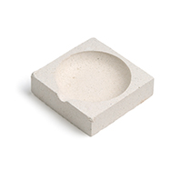 Crisol de cerámica cuadrado para fundir joyería y metal. Compra Online.