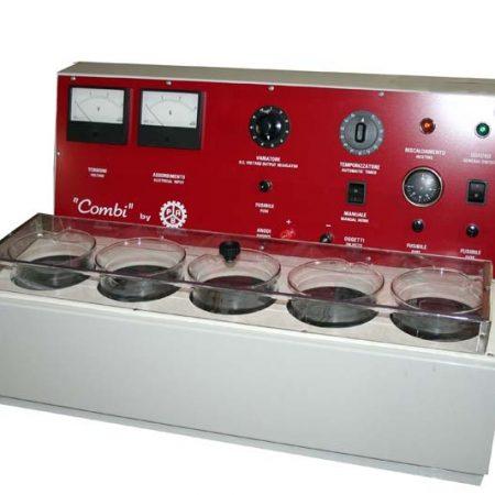 Máquina de alta capacidad para baño de joyas. 5 cubas de 1 litro de capacidad. Marca Joker.