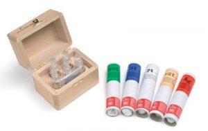 Estuche completo para joyerías y compro oro de toque. Incluye ampollas de ácido, piedra de toque y frascos.