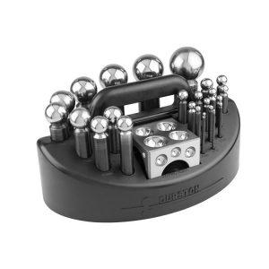 Juego embutidores acero con dado y base DURSTON 24 piezas