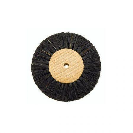 Cepillo circular cerda negra 75mm con Madera