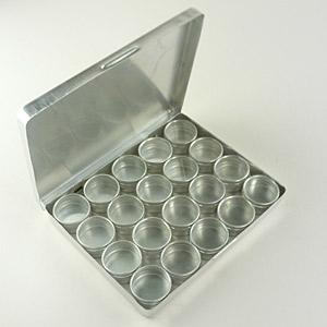 Estuche de aluminio con 20 cajas para gemas. para joyero