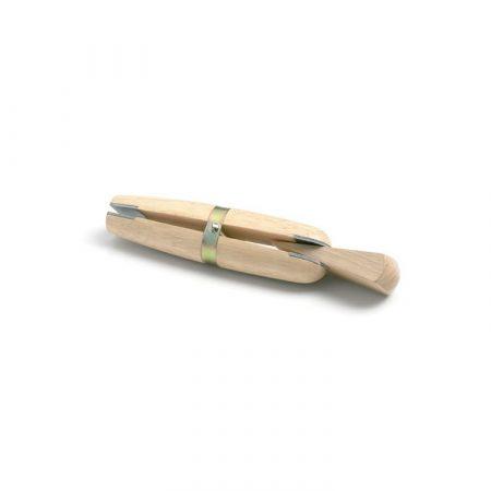 Entenalla de madera con cuña para anillos