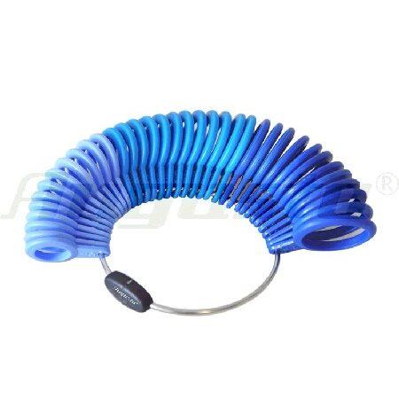 Sortijero con tallas de la 1 a 36 de plástico azul para medir sortijas en joyería