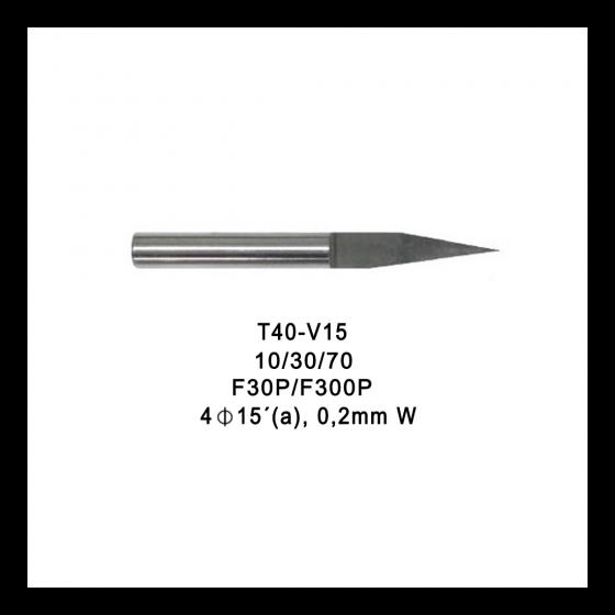 Fresa p/vaciado MAGIC v-cutter-15-02tip