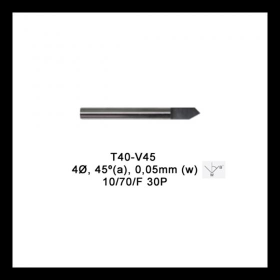 v-cutter-45-005-tip-Fresa p/vaciado MAGIC