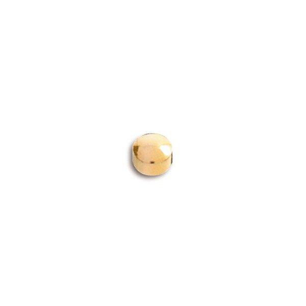 Pendiente mini de botón dorado de Caflón