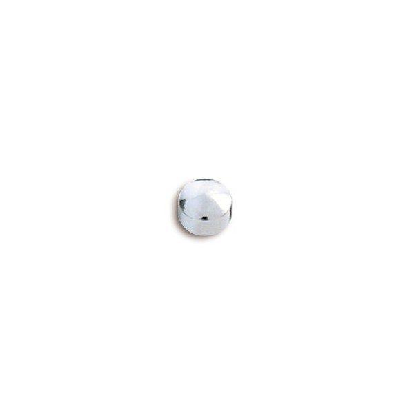Pendiente de botón mini de acero caflon
