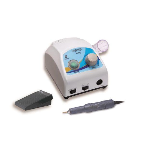 Mejor micromotor marathon para dental. Modelo Marathon N7 con pieza de mano y pedal.