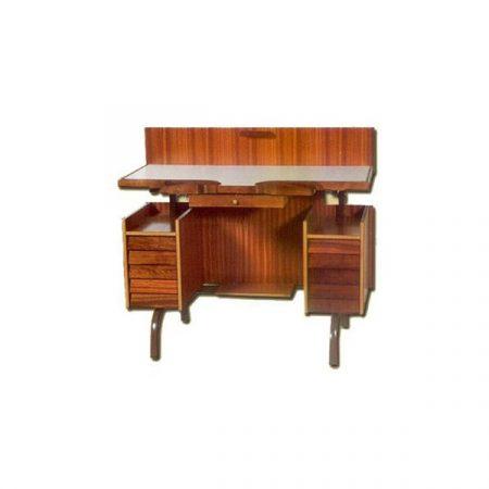 Mesa de relojero de un puesto clásica fabricada en madera.