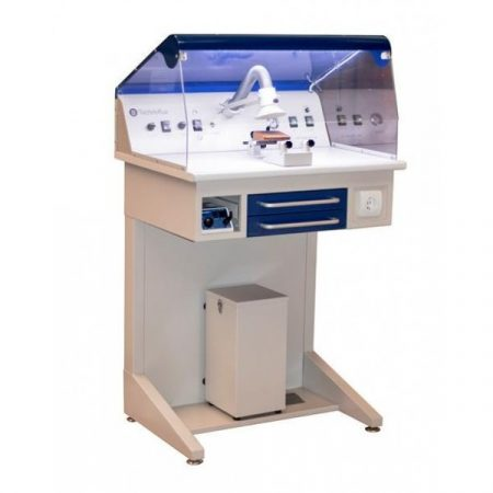 Estación de trabajo TECHNOFLUX p/pulir c/luz,aspiración y micromotor.