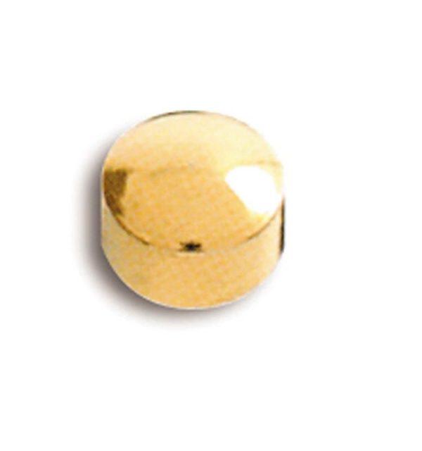 Pendientes de Botón Caflón acabado oro para Piercing y Joyería