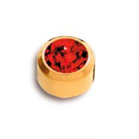 Pendientes de Botón Caflón oacabado oro con piedra para Piercing y Joyería