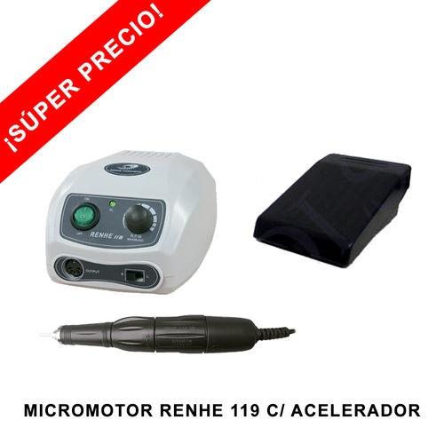 Micromotor Renhe al mejor precio para joyería y dental. Compra online micromotor RENHE 119 con acelerador incluido.