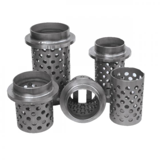 Cilindro de acero refractario perforado c/valona 60 x 100 mm.
