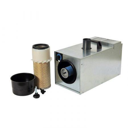 Aspirador para grabadora láser en joyería. Recupera los materiales preciosos.