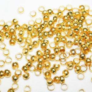Perlas de compresion (Chafas) chapadas oro 60 udes