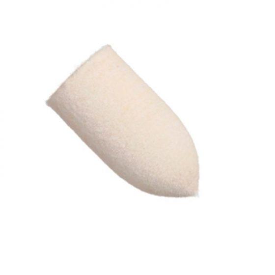 Cono de fieltro para pulir metales. Uso indicado en Joyería y Odontología con máquina pulidora