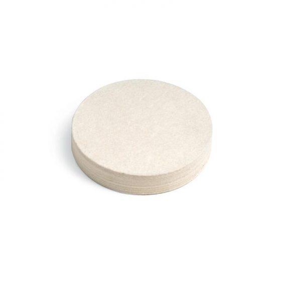 Disco de fieltro para pulir metales. Uso indicado en Joyería y Odontología con máquina pulidora.