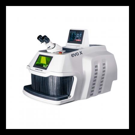 SOLDADOR LÁSER EVO X OROTIG especial para le sector dental con IUVAPS es el único sistema de desinfección