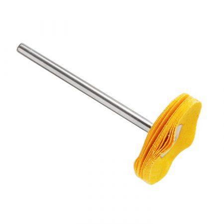 Cepillo montado circular tela amarillo HATHO